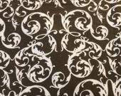 Brown Flourish - Flannel Fabric - BTY