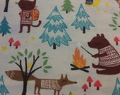 Forest Camping Friends - FLANNEL - BTY
