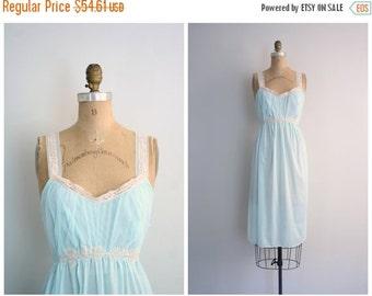 20% SALE deadstock 1950s chiffon nightie - mint green nightgown / 50s pastel nightie - vintage 60s lingerie / lace & chiffon nightie - fairi