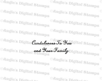 Condolences To You Quote Digital Stamp Image