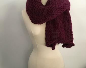 The Cardiff chunky wool scarf