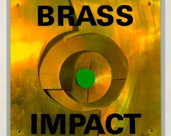 Brass Impact, The Brass Choir Conducted by Warren Kime  - Jazz Orchestra Vintage Vinyl Record with George Giusti Cover Art 1962 Command LP