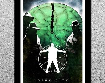 Dark City - Rufus Sewell - Art Poster Print  - Original Minimalist Art Poster Print