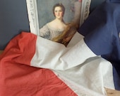 Old large french flag from 1930s  French Republique  Handmade