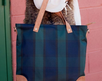 Personalized Plaid Shoulder Bag