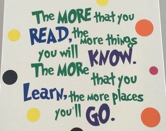 Dr.Suess read Quote canvas