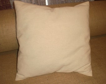 "Canvas Pillow Covers 1 DOZEN 16"" or 18"" blank 7oz. Canvas"