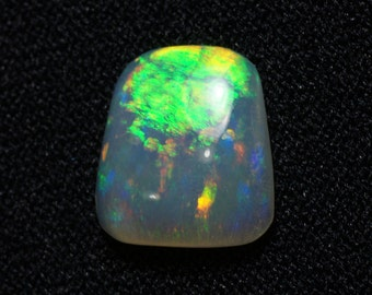 Australian Opal with Bright Green Orange Fire - 2.11 Carats