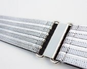 Glittery silver elastic waist belt, perfect for a bride on her wedding day or for extra sparkle any day!