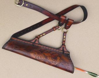 Archery Arrow Quiver Medieval Stag Design