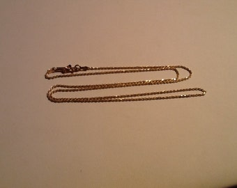 """Vintage 14k Gold Italy Solid Rope Chain Necklace 20"""" Nice"""