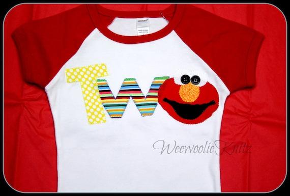 Elmo Inspired 2nd Birthday Shirt 1st Sesame
