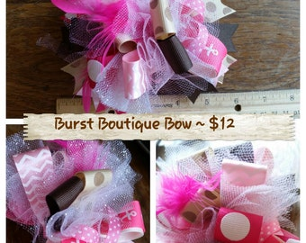 Burst Boutique Girls Hair Bows Handmade