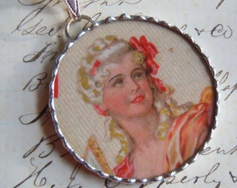 Fiona & The Fig MARIE ANTOINETTE-Silver Soldered Necklace-Pendant-Charm