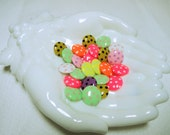 Novelty Buttons, Large Polka Dot Buttons, Craft Buttons