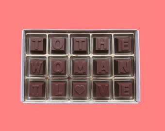 Girlfriend Gift for Her Wife Gift Romantic Anniversary Gift for Woman Valentines Gift Idea You To The Woman I Love Milk Chocolate Message