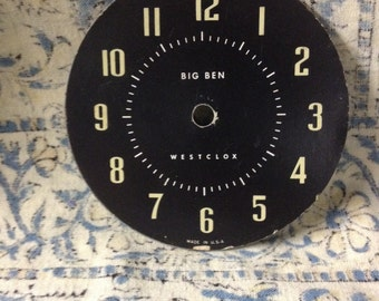 Vintage Big Ben Westclox Clock Face Repurpose