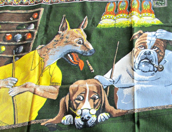 Dogs playing poker tapestry sale