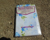 Standard Size Pillow Blue Floral Cases, #1 Seconds, In Package Old Stock