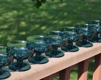 Blue Kings Crown Dessert Dishes-Set of 8