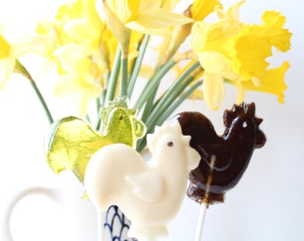 Rooster  Chicks Easter Lollipops 8 pieces