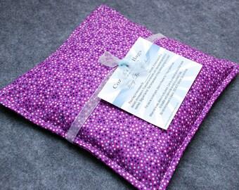 Heating Pad Microwave Corn Bag -- Lavender Confetti, hand warmer 9x9