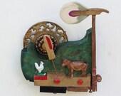 Piano Hammer Landscape - Cow and Chicken - Scott Rolfe