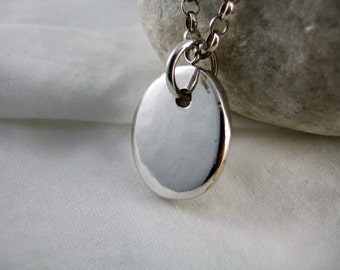 Sterling Silver Pebble Pendant Necklace - CMcB Jewellery