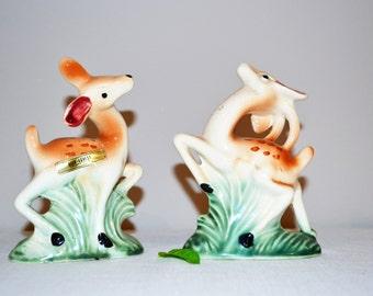 Vintage Deer Kreiss Shakers Art Deco / Kitsch / Woodland