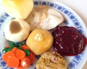 Doll Food Holiday Dinner Turkey Stuffing Cranberries Potatoes Roll 1:3 AG Kawaii Wow