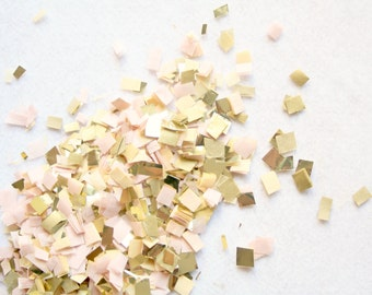 Blush Gold Nude and Champagne Confetti, Wedding Table decor, Party Decoration, Biodegradable Confetti Toss, Baby Shower Decor