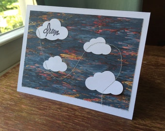 SALE 50% off Dream Cloud One Handmade Greeting Card