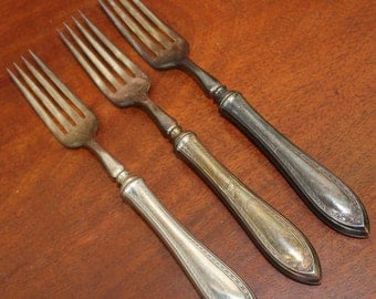 ONEIDA Community | PATRICIAN | Vintage Silverware | Flatware | Silverplate shabby chic cottage utensils fork traditional Silver Forks BIN 27
