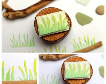 Mini carved grass leaf stamp Nr.2