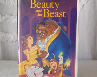 Vintage Beauty And The Beast VHS Tape Walt Disney's Home Video 1990s