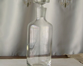 Vintage Apothecary Bottle Pantry Bottle Pharmacy Bottle 1.5 Liter Reagent Lab Bottle  Decanter Vintage 1950s