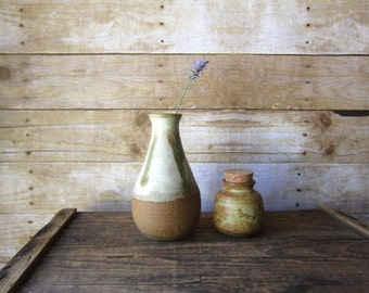 Two Rustic Handmade Vase Studio Pottery