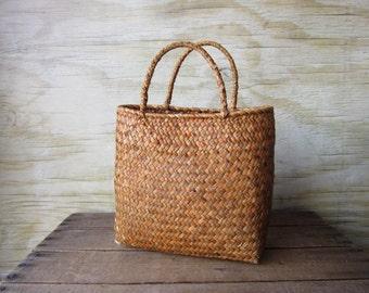 Vintage  Straw Purse Small Beach Bag