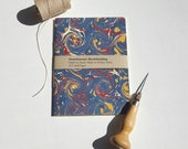 Marbled Paper Notebook - Free U.S. Shipping - Lined Pages - Pocket Notebook - Jotter