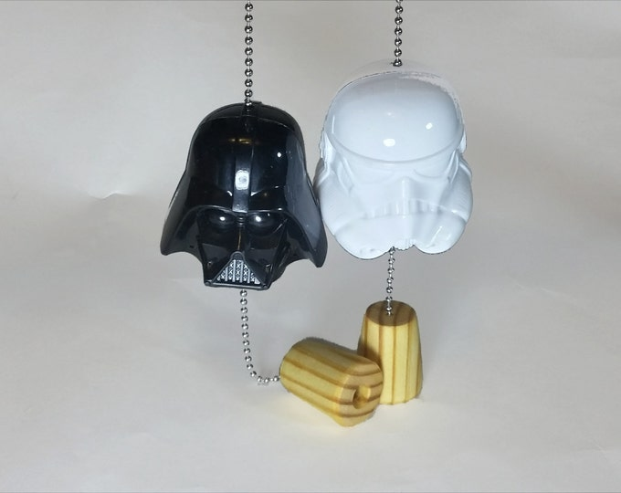 Star Wars Darth Vader Storm Trooper Ceiling Fan Pulls / A Force Awakens / Gift for Kids / Gift for Him / Man Cave Decor / Rogue One