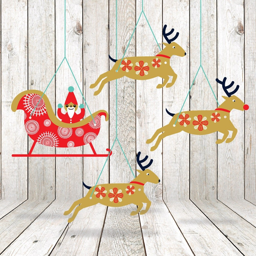 Homemade Christmas Decorations With White Paper : Printable christmas garland diy decorations paper
