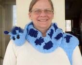 Custom Crochet Blue Giraffe Scarf -PATIENCE