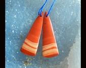 New,Red River Jasper Earring Bead,36x12x4mm,32.5ct