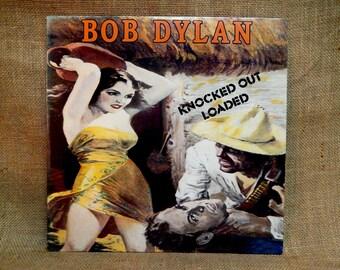 BOB DYLAN- Knocked Out Loaded - 1986 Vintage Vinyl Record Album