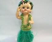 Vintage Hula Dancer, Hawaiian Souvenir, Dashboard Hula Dancer, Hawaiian Doll, Plastic Hula Dancing Doll, Bobble Doll,
