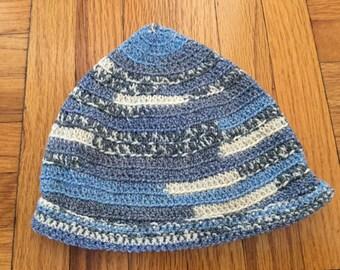 Crochet Baby Beanie Denim Chambray Look