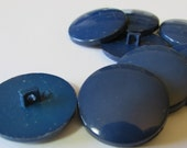 """9 round blue 1"""" buttons (25mm), quantity 9 buttons"""