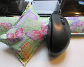 Hot/ Cold Aromatherapy Keyboard and Mouse Wrist Supports Colorful Butterflies