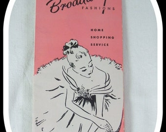 End Summer Sale Vintage 1948 Broadway Fashions Easter Catalog Advertising Home Shopping Service Order Brochure