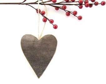 Rustic Heart Ornament . wood heart . wooden heart . heart shaped wood ornaments . reclaimed wood decor
